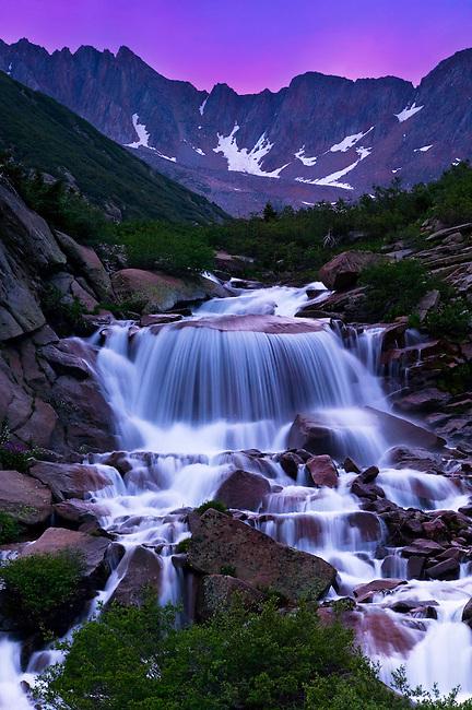 First light on Cascade Creek basin, San Juan Mountains, Colorado