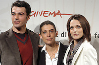 "LUCA ARGENTERO, FRANCESCA COMENCINI & LAURA CHIATTI.attend a photocall to promote the movie ""A Casa Nostra"" on the eighth day of Rome Film Festival (Festa Internazionale di Roma) in Rome, Italy, October 20th 2006..portrait headshot.Ref: CAV.www.capitalpictures.com.sales@capitalpictures.com.©Luca Cavallari/Capital Pictures."