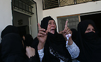 "Women react during the funeral of Ibraheem al-Shami, a member of Fatah movement who was killed by Israeli troops, in the southern Gaza strip August 14, 2007. Israeli ground forces killed four Palestinians on Tuesday when they clashed with militants during a raid on the Hamas-controlled Gaza Strip, the Islamist group and hospital officials said. ""photo by Fady Adwan"""