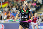 Berlin, Germany, February 10: During the FIH Indoor Hockey World Cup quarterfinal match between Germany (black) and Poland (red) on February 10, 2018 at Max-Schmeling-Halle in Berlin, Germany. Final score 3-1. (Photo by Dirk Markgraf / www.265-images.com) *** Local caption *** Cecile PIEPER #22 of Germany