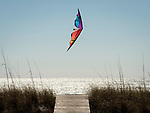 Flying kite on the beach in Cape San Blas, FL in march.