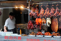 GREAT BRITAIN, London, restaurant in chinatown, meat in window / GROSSBRITANNIEN, London, Restaurant in Chinatown, Fleisch im Schaufenster