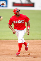 June 21, 2009:  Jairo Martinez of the Batavia Muckdogs runs the bases during a game at Dwyer Stadium in Batavia, NY.  The Muckdogs are the NY-Penn League Short-Season Class-A affiliate of the St. Louis Cardinals.  Photo by:  Mike Janes/Four Seam Images