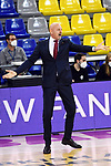 Turkish Airlines Euroleague 2020/2021. <br /> Regular Season-Round 10.<br /> FC Barcelona vs Crvena Zvezda MTS Belgrade: 76-65.<br /> Sasa Obradovic.