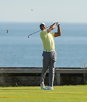 150719 | The 148th Open - Monday Practice<br /> <br /> Tiger Woods of USA on the 6th hole during practice for the 148th Open Championship at Royal Portrush Golf Club, County Antrim, Northern Ireland. Photo by John Dickson - DICKSONDIGITAL
