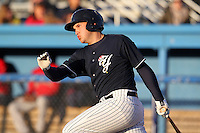 Empire State Yankees outfielder Brandon Laird #8 at bat during a game against the Pawtucket Red Sox at Dwyer Stadium on May 5, 2012 in Batavia, New York.  Pawtucket defeated Empire State 9-3.  (Mike Janes/Four Seam Images)