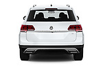 Straight rear view of a 2019 Volkswagen Atlas S 5 Door SUV stock images