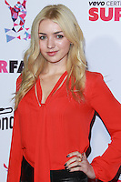 SANTA MONICA, CA, USA - OCTOBER 08: Peyton List arrives at the Vevo CERTIFIED SuperFanFest held at Barkar Hangar on October 8, 2014 in Santa Monica, California, United States. (Photo by David Acosta/Celebrity Monitor)