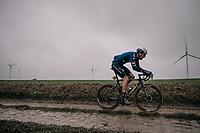 Tim Declercq (BEL/Deceuninck - Quick Step)<br /> <br /> 118th Paris-Roubaix 2021 (1.UWT)<br /> One day race from Compiègne to Roubaix (FRA) (257.7km)<br /> <br /> ©kramon
