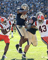 Pittsburgh wide receiver Jonathan Baldwin (82). The Pittsburgh Panthers defeated the Syracuse Orange 37-10 at Heinz Field, Pittsburgh Pennsylvania on November 7, 2009..