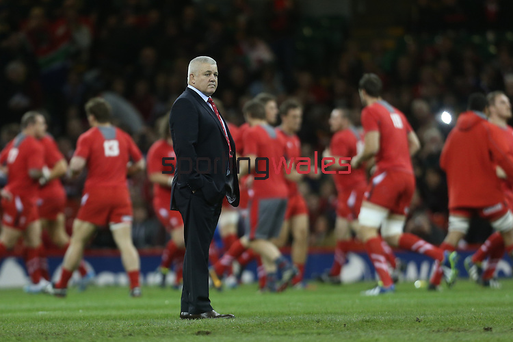 Warren Gatland<br /> <br /> 2013 Dove Men Series<br /> Wales v South Africa<br /> Millennium Stadium<br /> 09.11.13<br /> ©Steve Pope-Sportingwales