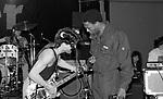 Eddie Van Halen , Michael Winslow & Valerie Bertinelli at NAMM 1987