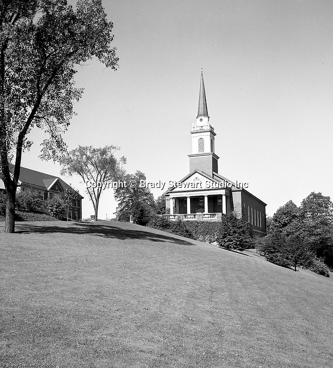 Pittsburgh PA:  View of the new Chapel at the Pennsylvania College for Women's campus. Pennsylvania College for Women changed its name in 1955 to Chatham College.