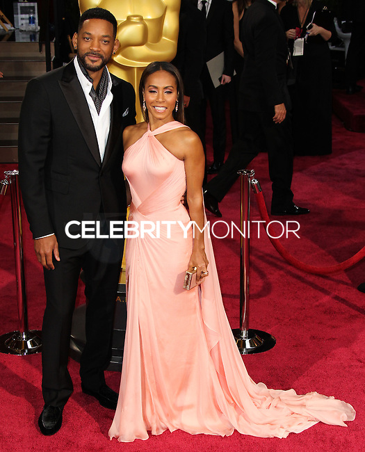 HOLLYWOOD, CA, USA - MARCH 02: Will Smith, Jada Pinkett Smith at the 86th Annual Academy Awards held at Dolby Theatre on March 2, 2014 in Hollywood, Los Angeles, California, United States. (Photo by Xavier Collin/Celebrity Monitor)