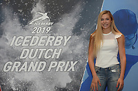 SPEED SKATING: ALMERE: 10-04-2019, Van der Valk Hotel Almere, Launce of Icederby in Thialf 2019/2020, long track and short track speed skating, Jutta Leerdam, ©photo Martin de Jong