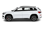 Car Driver side profile view of a 2019 Skoda Kodiaq RS 5 Door SUV Side View