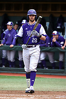 CHAPEL HILL, NC - FEBRUARY 19: Sam Zayicek #28 of High Point University walks to the plate during a game between High Point and North Carolina at Boshamer Stadium on February 19, 2020 in Chapel Hill, North Carolina.