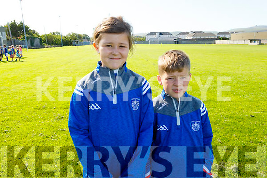 Eddie and Neasa Walsh from Tralee at the Kerins O'Rahilly Cul Camp on Monday.