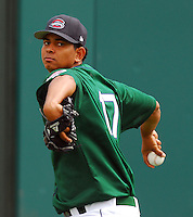 6 May 2007: Jorge Rodriguez from a game between the Greenville Drive, Class A affiliate of the Boston Red Sox, and the Augusta GreenJackets at West End Field in Greenville, S.C. Photo by:  Tom Priddy/Four Seam Images