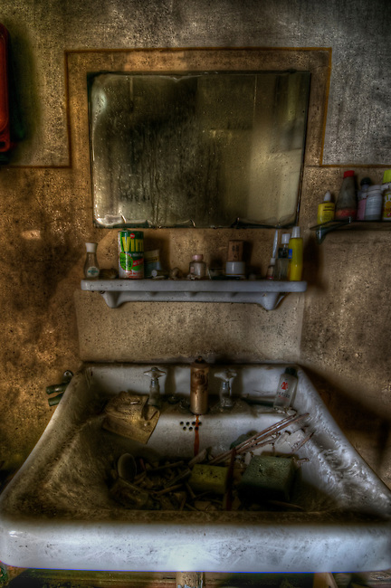 Bathroom sink found in old doctors house
