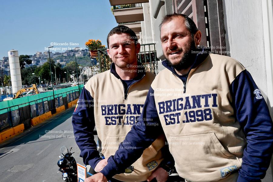 - NAPOLI 12 MAR  2014 - giocatori di football americano  Briganti Napoli