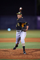 Bradenton Marauders relief pitcher Miguel Rosario (38) delivers a pitch during a game against the Tampa Yankees on April 11, 2016 at George M. Steinbrenner Field in Tampa, Florida.  Tampa defeated Bradenton 5-2.  (Mike Janes/Four Seam Images)