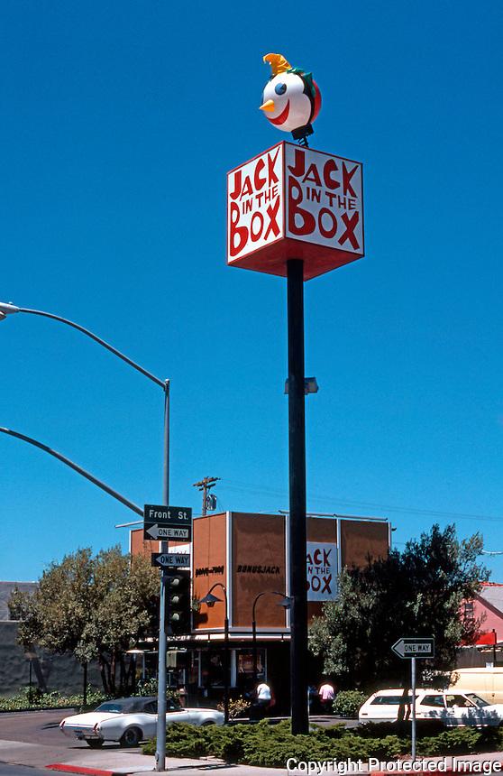 San Diego: Jack-in-the-Box, Washington St. in Hillcrest. (Sept. 1978--demolished.)  Photo  '76.