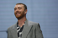 Pictured: Sam Smith on stage. Saturday 26 May 2018<br /> Re: BBC Radio 1 Biggest Weekend at Singleton Park in Swansea, Wales, UK.