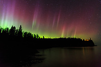 Aurora Over Split Rock Lighthouse<br /> <br /> (This preview image is low-res, but orders will print in high resolution.)