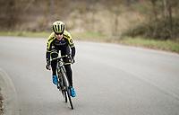 Amanda Spratt (AUS/Mitchelton-Scott) at race reconnaissance 1 day prior to the 13th Strade Bianche 2019 (1.UWT)<br /> <br /> ©kramon