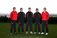Pictured L-R: Unknown, Marcos Painter, Alan Tate, Matthew (Matty) Collins and Garry Monk<br /> Re: Swansea City Football Club new kit presentation at Machybys Golf Club near Llanelli west Wales. Tuesday 23 June 2009<br /> Picture by D Legakis Photography / Athena Picture Agency, 24 Belgrave Court, Swansea, SA1 4PY, 07815441513