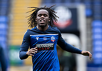 Bolton Wanderers' Peter Kioso warming up before the match <br /> <br /> Photographer Andrew Kearns/CameraSport<br /> <br /> The EFL Sky Bet League Two - Bolton Wanderers v Oldham Athletic - Saturday 17th October 2020 - University of Bolton Stadium - Bolton<br /> <br /> World Copyright © 2020 CameraSport. All rights reserved. 43 Linden Ave. Countesthorpe. Leicester. England. LE8 5PG - Tel: +44 (0) 116 277 4147 - admin@camerasport.com - www.camerasport.com