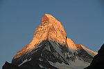 The Matterhorn as viewed from Zermatt, Switzerland.