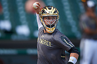 Michael Amditis (2) of Boca Raton Community High School in Boca Raton, Florida during practice before the Under Armour All-American Game on August 15, 2015 at Wrigley Field in Chicago, Illinois. (Mike Janes/Four Seam Images)