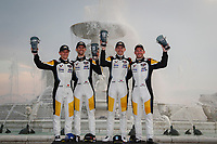 #3 Corvette Racing Corvette C8.R, GTLM: Jordan Taylor, Antonio Garcia<br /> #4: Corvette Racing Corvette C8.R, GTLM: Tommy Milner, Nick Tandy<br /> Victory Lane, Fountain