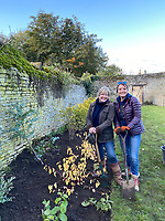 BNPS.co.uk (01202) 558833. <br /> Pic: BNPS<br /> <br /> Pictured: Nik Young and Jane Wilson from Rutland have become the 1000th members of Flowers from the Farm<br /> <br /> Flower grower James Cock inspects this year's spectacular display of daffodils he has produced in the 10th anniversary of the Flowers from the Farm co-operative. <br /> <br /> The organisation champions British cut flowers by supporting and encourage growers to produce them for market.<br /> <br /> Over the past 12 months Flowers from the Farm has seen its membership increase by 65 per cent due to the demand of homegrown flowers during the coronavirus pandemic.