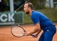 Netherlands, September 27,  2020, Beneden-Leeuwen, TV Lewabo, Competition, Men's premier league, TV Lewabo vs TV Suthwalda, Doubles:  Boy Westerhof (NED)<br /> Photo: Henk Koster/tennisimages.com