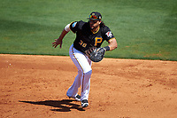 Pittsburgh Pirates first baseman Michael Morse (38) during a Spring Training game against the Boston Red Sox on March 9, 2016 at McKechnie Field in Bradenton, Florida.  Boston defeated Pittsburgh 6-2.  (Mike Janes/Four Seam Images)