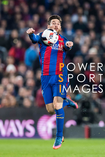 Lionel Andres Messi of FC Barcelona in action during their Copa del Rey 2016-17 Semi-final match between FC Barcelona and Atletico de Madrid at the Camp Nou on 07 February 2017 in Barcelona, Spain. Photo by Diego Gonzalez Souto / Power Sport Images