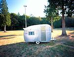 A 13' custom built Shasta vintage travel trailer.