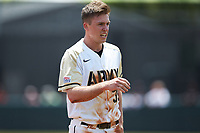 Jacob Hurtubise (39) of the Army Black Knights walks off the field after having been thrown out attempting to steal second base during the game against the North Carolina State Wolfpack at Doak Field at Dail Park on June 3, 2018 in Raleigh, North Carolina. The Wolfpack defeated the Black Knights 11-1. (Brian Westerholt/Four Seam Images)
