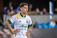 SAN JOSE, CA - MAY 15: Felipe Mora #9 of the Portland Timbers during a game between San Jose Earthquakes and Portland Timbers at PayPal Park on May 15, 2021 in San Jose, California.