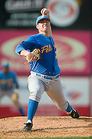 Myrtle Beach starting pitcher Jake Stevens (33) in action versus Winston-Salem at Ernie Shore Field in Winston-Salem, NC, Monday, May 28, 2007.