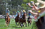 25 Apr 2009: Fans photograph two time Eclipse Award winner, Good Night Shirt, (left) on his way to winning the Foxfield Chase flat race at the Foxfield Races in Charlottesville, Virginia.