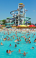 Carowinds, a Cedar Fair Entertainment Company amusement / theme park, is home to Boomerang Bay, a water park that is included in the price of admission to Carowinds. Boomerang Bay includes a 34,000-square-foot wave pool, a 1,000-foot-long lazy river, 11 water slides and interactive activity areas.