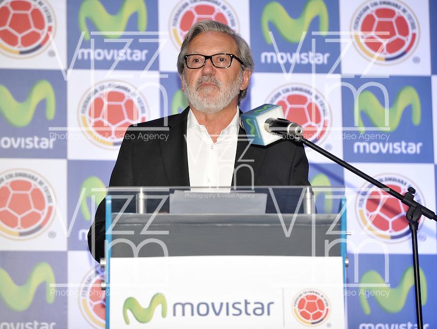 BOGOTA - COLOMBIA - 13-04-2015: Ariel Ponton, CEO de Movistar Colombia, durante la renovación del patrocinio de Movistar como socio oficial de la Selección Colombia de Futbol. / Ariel Ponton, CEO of Movistar Colombia, during the renewal of Movistar as sponsorship as official partner of Colombia Soccer Team.  / Photo: VizzorImage / Luis Ramirez / Staff.