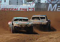 Apr 16, 2011; Surprise, AZ USA; LOORRS driver Curt Leduc (43) leads Steve Barlow (83) during round 3 at Speedworld Off Road Park. Mandatory Credit: Mark J. Rebilas-.