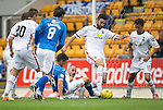 St Johnstone v Inverness Caley Thistle...08.08.15...SPFL..McDiarmid Park, Perth.<br /> Graham Cummins can't get the ball over the line as the Ross Draper and David Raven atempt to scramble to clear the ball<br /> Picture by Graeme Hart.<br /> Copyright Perthshire Picture Agency<br /> Tel: 01738 623350  Mobile: 07990 594431