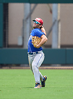 Wellington Wolverines outfielder Dawson Ball (1) during practice before the 42nd Annual FACA All-Star Baseball Classic on June 5, 2021 at Joker Marchant Stadium in Lakeland, Florida.  (Mike Janes/Four Seam Images)