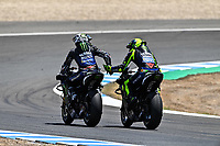 Maverick Vinales Yamaha , Valentino Rossi Yamaha <br /> Jerez 26/07/2020 Moto Gp Andalucia 2020 / Spain<br /> Photo Yamaha Press Office / Insidefoto <br /> EDITORIAL USE ONLY